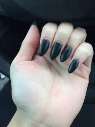 love my matte black almond nails yelp