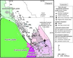 Oregon Volcano Map by Cenozoic To Recent Plate Configurations In The Pacific Basin