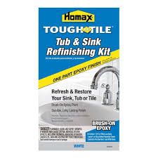 Bathroom Tile Refinishing Kit - homax 26 oz white tough as tile one part epoxy brush on kit 2106