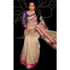 Buy Violet Embroidered Art Silk Art Silk Saree Embellished With Pearl Work Buy Art Silk Saree