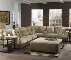 Light Brown Sofa by Brown Leather Sofa With Dark Grey Soft Carpet With Black Low