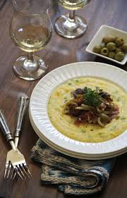 cuisine polenta polenta with caramelized fennel bacon and olives