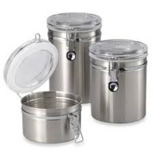 stainless steel canisters kitchen oggi 5832 1 ez grip coffee canister white oggi https www