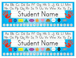 student name tags for desks desk name tags 8 5x11 in microsoft publisher multicolor editable