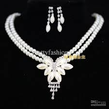 ladies necklace images Unique wedding bridal bridesmaids ivory imitation pearl rhinestone jpg