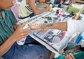 temporary tattoo painters of bagan move centre stage the myanmar