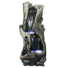 Waterfalls For Home Decor Alpine 41 In Rainforest Waterfall Fountain Win258 The Home Depot