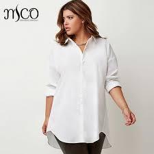 blouse tumbler simple plus size white shirt franch letter print