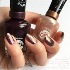 sally hansen shhhhimmer over cabernet with bae sally hansen miracle gel swatches fall 2017 jpg