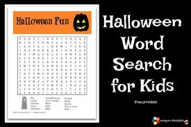crayon freckles free halloween word search for kids free printable