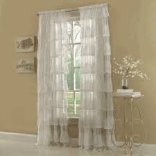 Ruffled Priscilla Curtains Lace Curtains Priscilla Ruffled Layered Curtain Valance Or