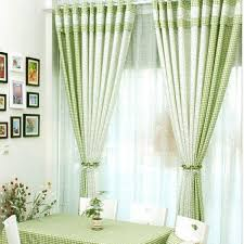 Vintage Green Curtains Vintage Print Curtains Of Green And White Plaid Patterns