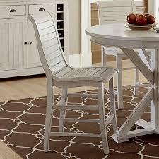 progressive furniture willow counter height dining table willow counter height chair set of 2 distressed white