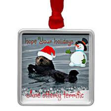 otters ornaments keepsake ornaments zazzle