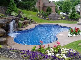 Backyard Landscaping Ideas With Pool decor beautiful small inground pools for small yards for outdoor