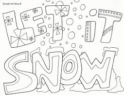 snow coloring pages 12576