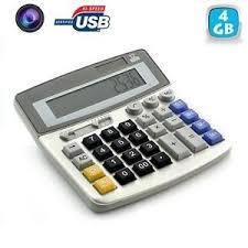cachee bureau calculatrice de bureau éra espion mini appareil photo vidéo