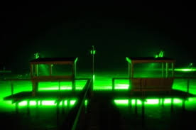 above water lights underwater green fishing lights