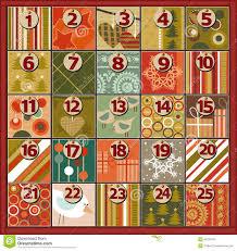 christmas advent calendar advent calendar stock vector image 46331851