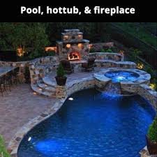 pool with fireplace fireplace ideas