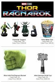 thor ragnarok popcorn premium sets marvelstudios