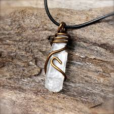 men crystal necklace images Lemurian seed quartz jewelry for men from mermaid tears jpg