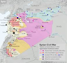 Syria On A Map by Syrian Civil War Control Map April 2016 Political Geography Now