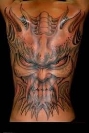 tattoo back face full back decorated with ultimate big demon face tattoo for men