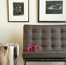 barcelona chair contemporary living room mark williams design