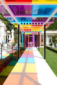 Home Design Studio Bristol by Daniel Buren Creates A Chromatic Landscape In The Gardens Of Hotel