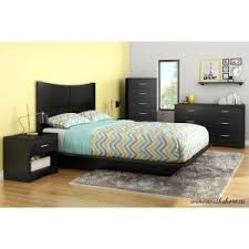 South Shore Full Platform Bed South Shore Step One Queen Size Platform Bed In Pure Black 3070233