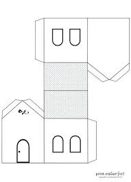 printable model house template 3d house template