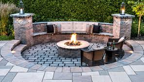 Patio Firepit Outdoor Features Www Mansfieldbrickandsupply