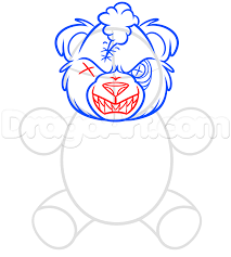 how to draw a scary teddy bear step by step stuff pop culture