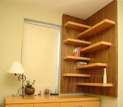 Walnut Corner Bookcase 15 Corner Wall Shelf Ideas To Maximize Your Interiors Corner