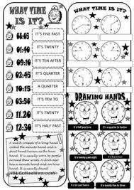 what time is it teaching kids esl pinterest printables
