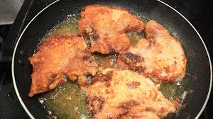 chicken fried pork chops country style easy youtube