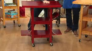 folding kitchen island folding island kitchen cart with extendable shelves page 1 qvc