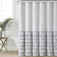 ideas for bathroom curtains bathroom melanie white ruffle curtains for bathroom decoration ideas