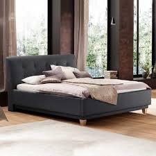 Schlafzimmer In Anthrazit Polsterbett Dusti In Anthrazit 180x200 Cm Wohnen De