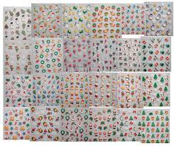 2012 christmas 3d nail stickers 3d nail seal designs nail sticker