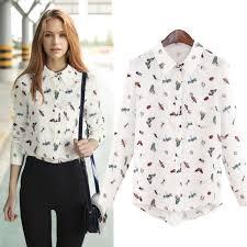elephant blouse 2018 2015 autumn hair elephant print chiffon shirt