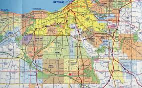 Ohio Highway Map by Interstate Guide Interstate 480 Ohio