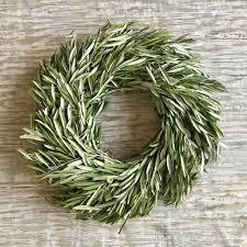 fresh olive leaf wreath u2013 fig u0026 dove
