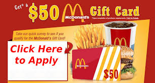 mcdonalds gift card discount mcdonald s 50 gift card giveaway limited time company