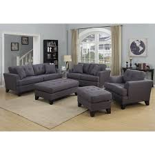 Overstock Living Room Sets Porter Norwich Charcoal Grey Living Room Set With 4 Throw Pillows