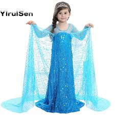 elsa costume 2017 fairy toddler fever blue girl elsa dress clothes princess