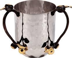 netilat yadayim cup wash cup netilat yadayim cup gold leaf handles ahuva