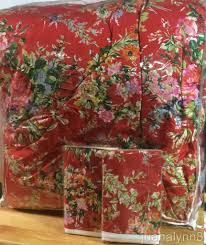 Ralph Lauren Comforter King Ralph Lauren Belle Harbor Red Floral 3p King Comforter Set New