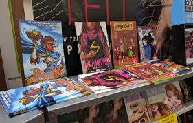 comic book shelves comics at the scholastic book fair ben towle cartoonist